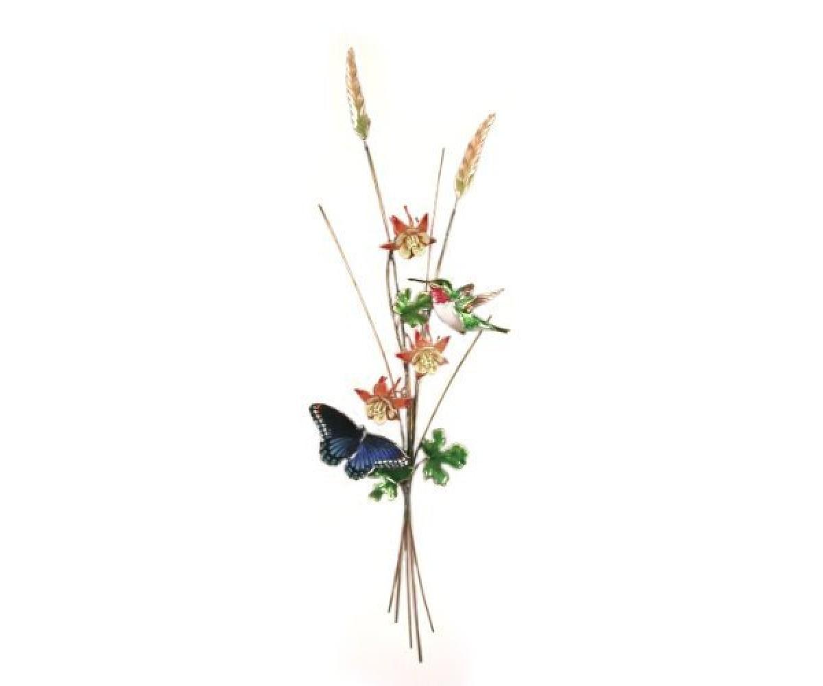 Bovano Enamel Copper Wall Art Hummingbird Butterfly
