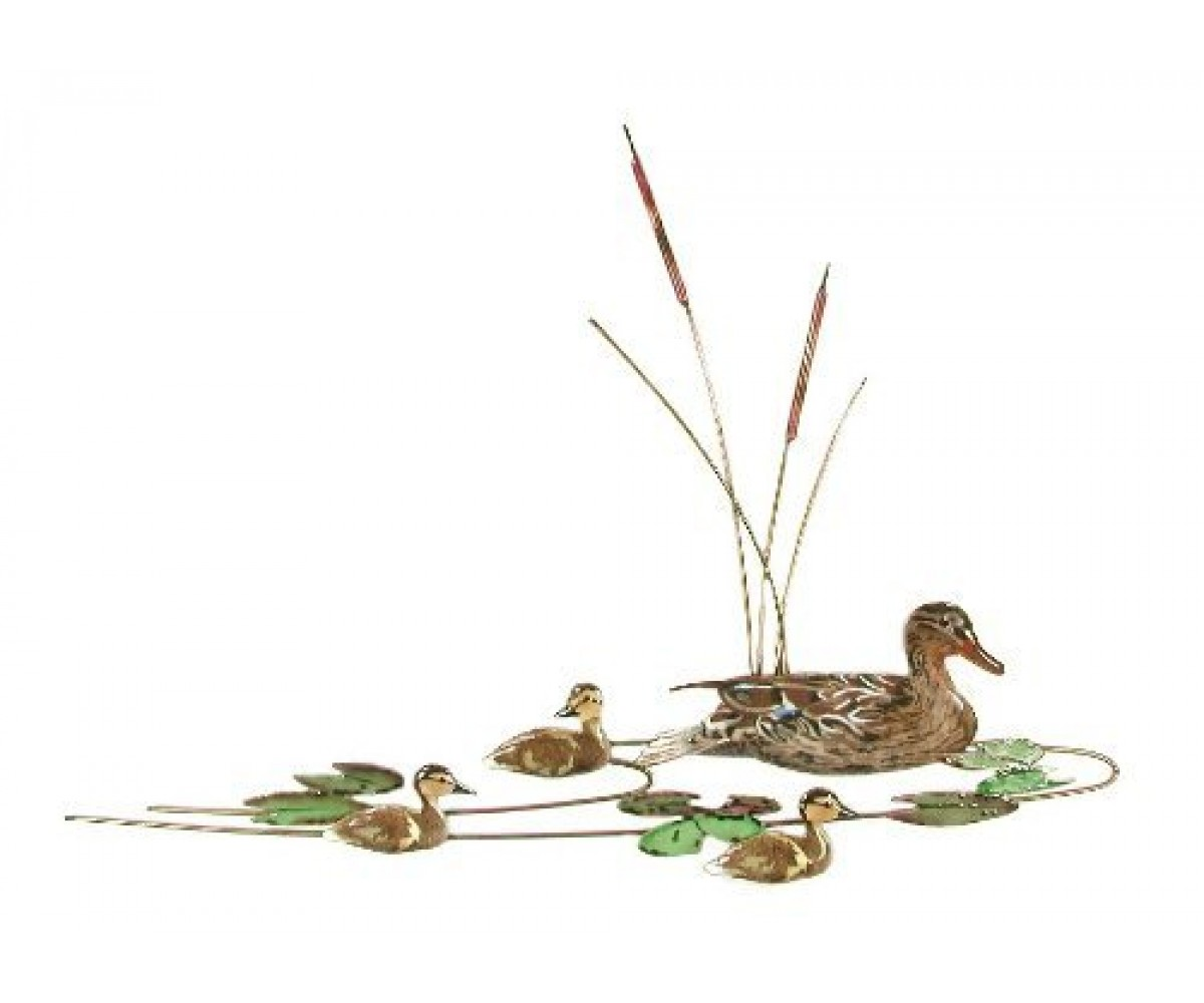 Bovano Enamel Wall Art Decor Mallard Duck Ducklings New
