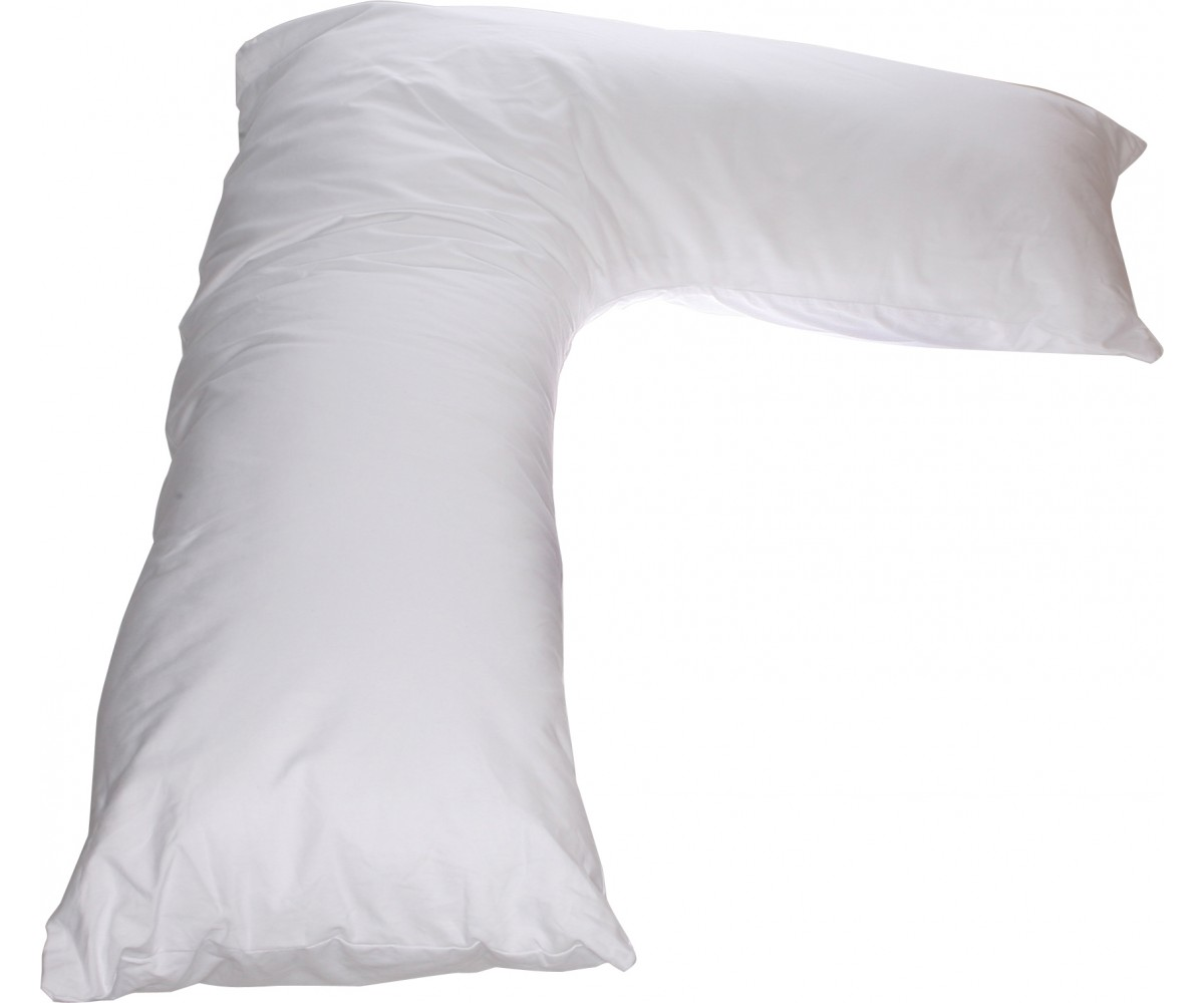 L Side Sleeper Pillow White