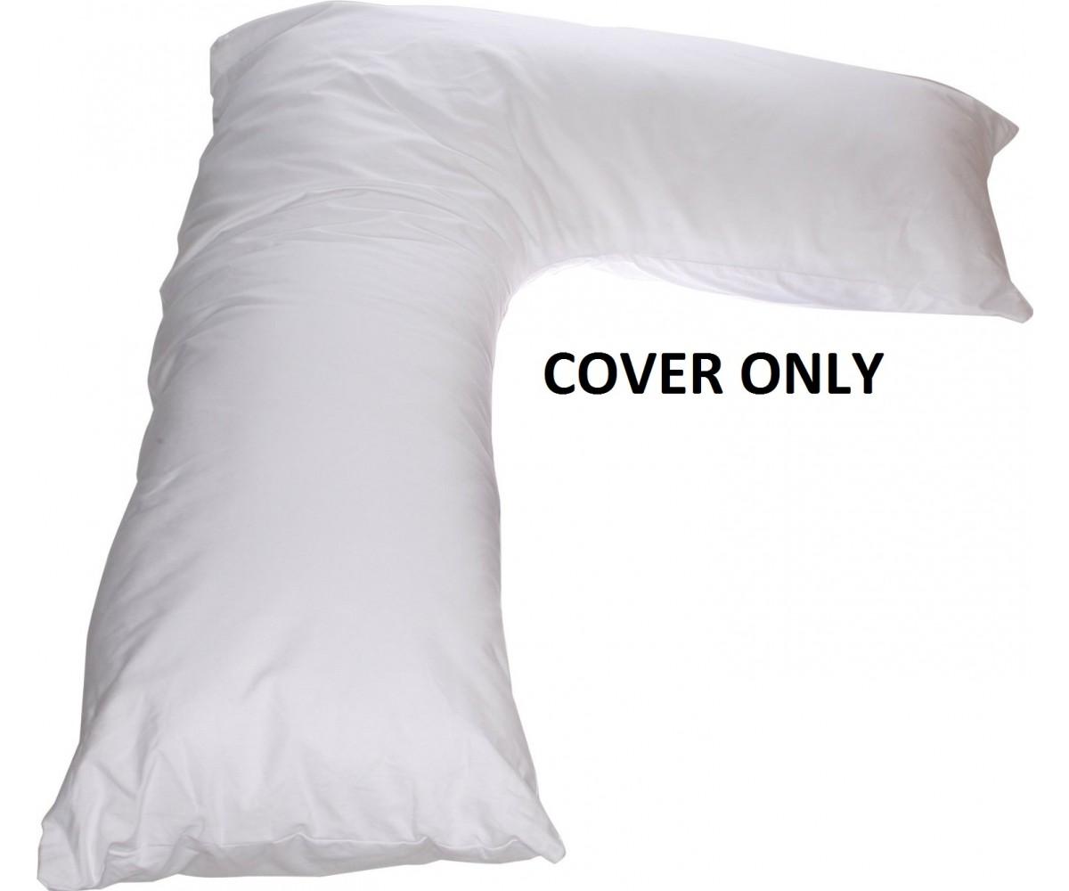 Cover - V Side Sleeper Pillow White - Boomrang