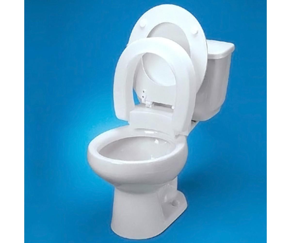 Raised Toilet Seat Elongated Hinged