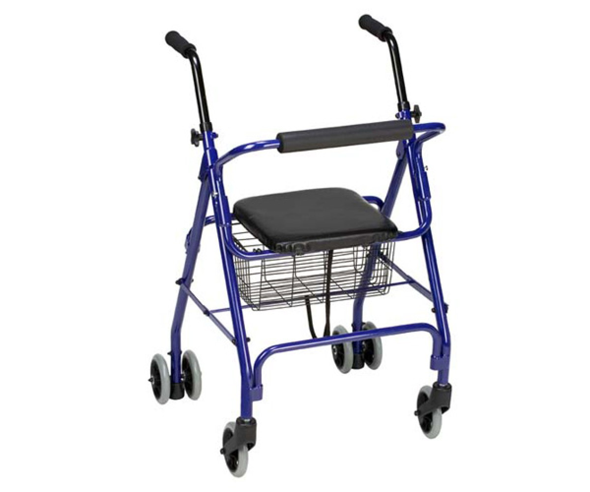 Aluminum Rollator with Weight-Activated Brakes