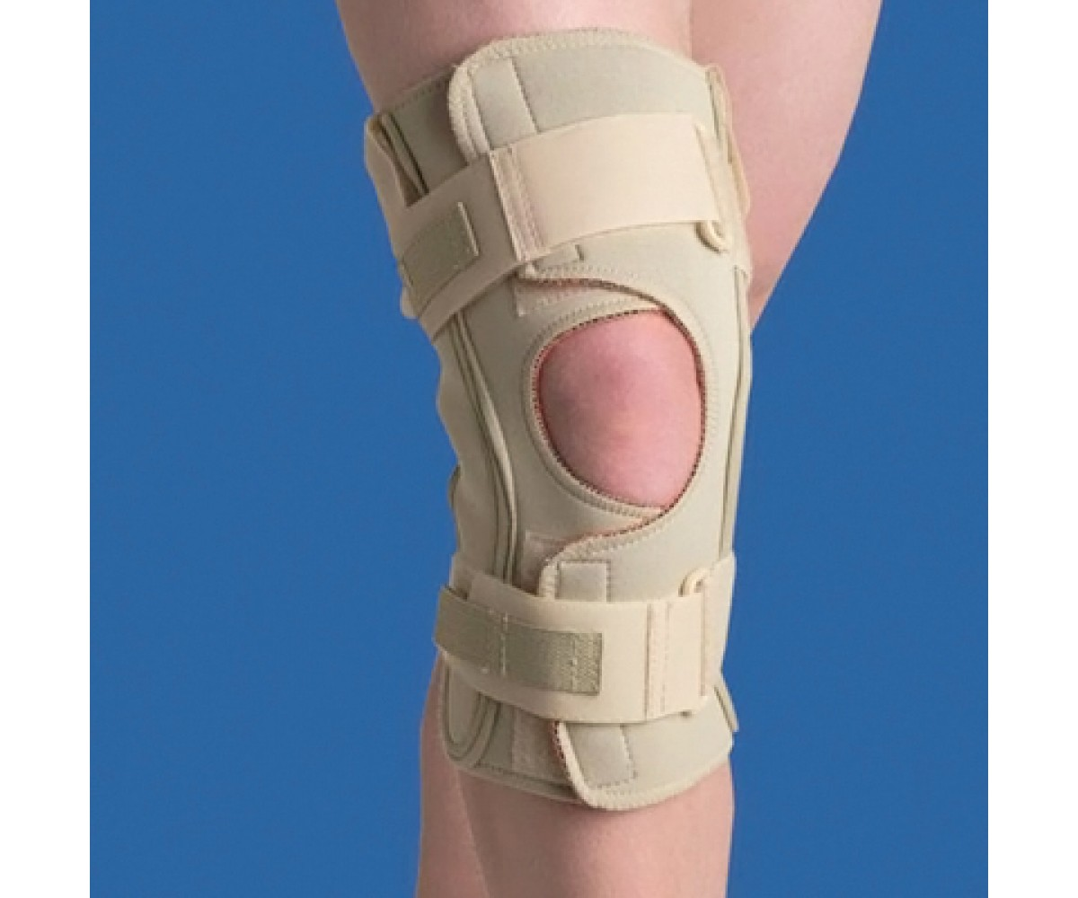 Hinged Knee Wrap Dual Pivot Beige