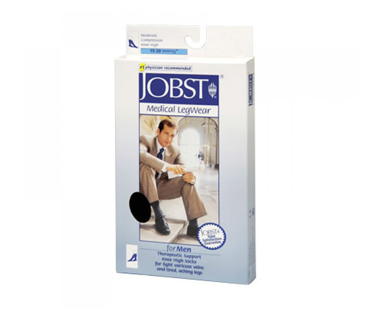 Jobst for Men Knee High Socks Moderate Compression 15-20 mmHg