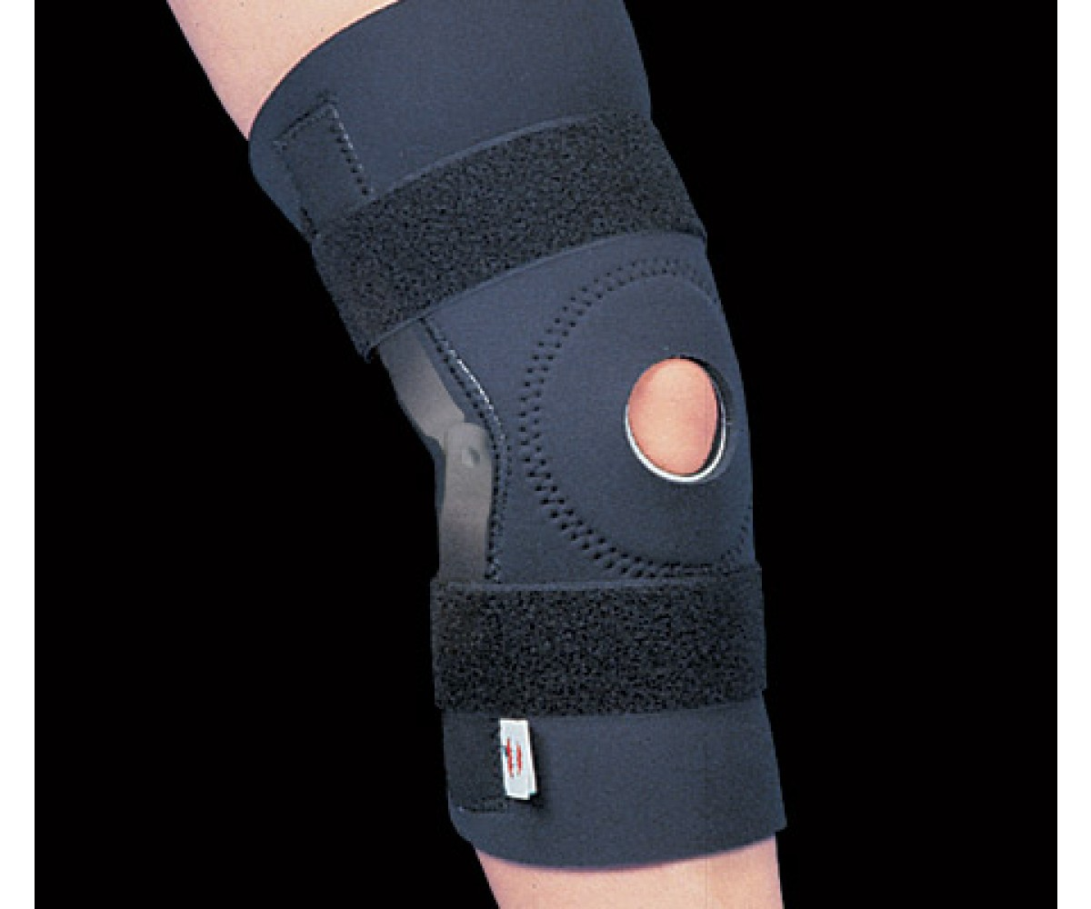 Hinged Neoprene Knee Support, Black
