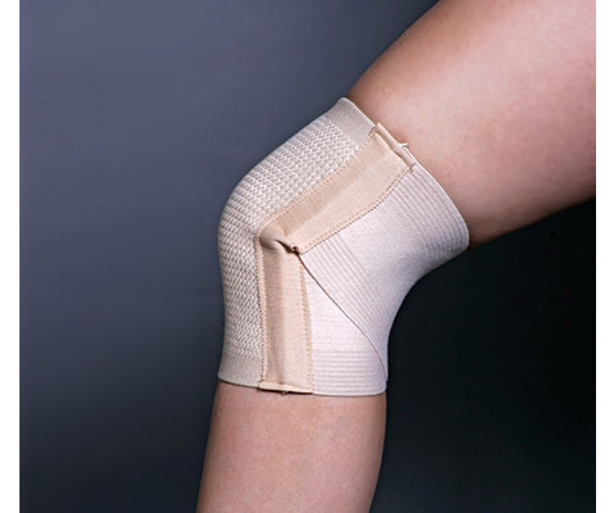 X-Back Elastic Adjustable Knee Brace, Tan - Medium