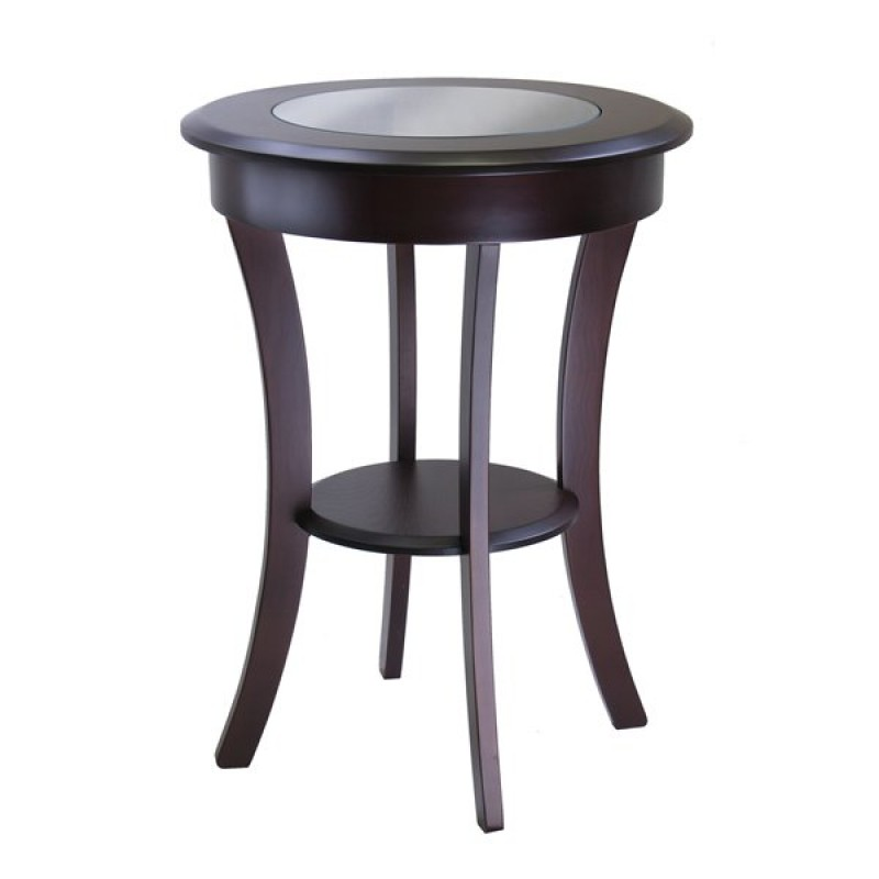 Winsome Wood 40019 Cassie Round Accent End Table Cappuccino