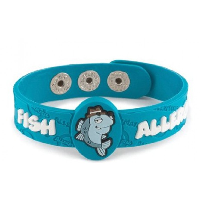 Allermates Wrist Band Detective Fin Fish Allergy
