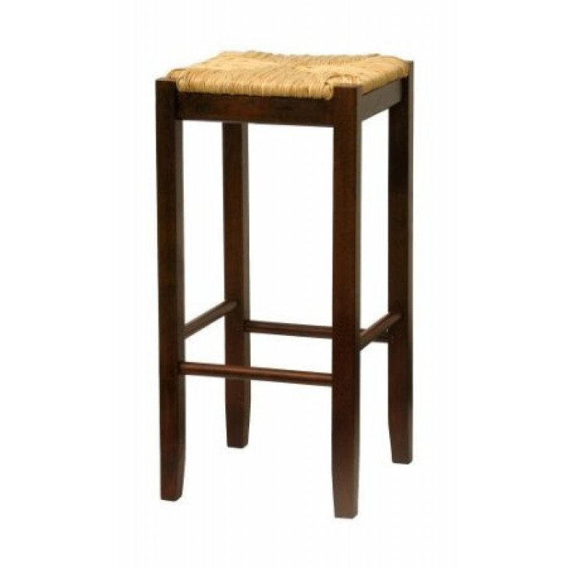 Winsome Wood 29 Inch Square Rush Seat Bar Stool Set Of 2
