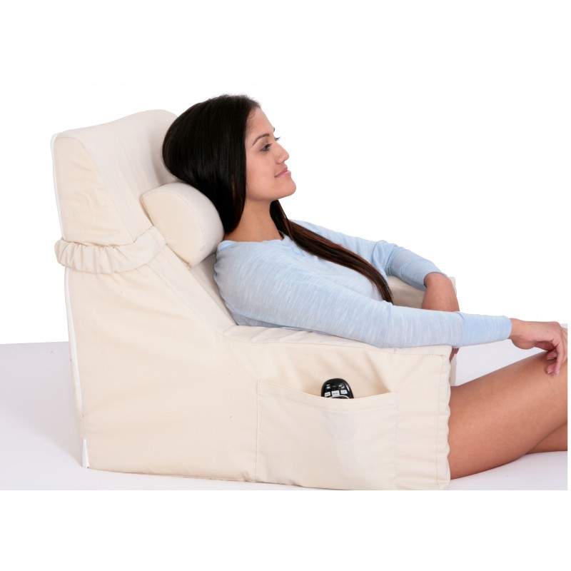 Bed Lounger With Cervical Roll - Relax In Bed Chair ...