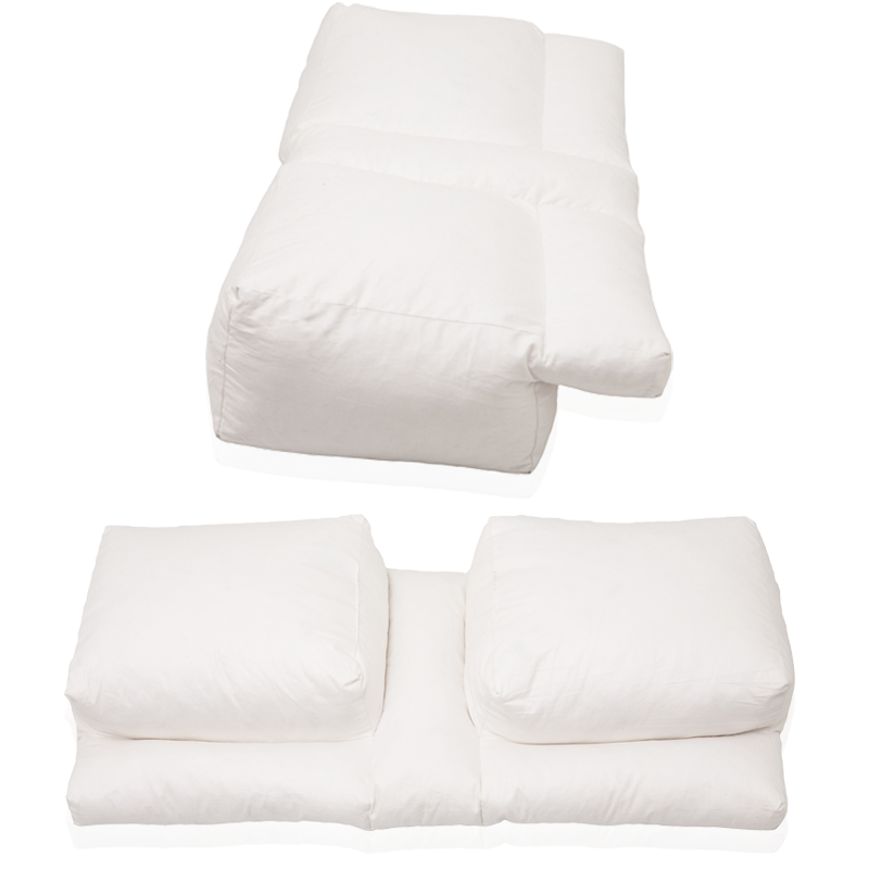 Better Sleep Pillow Gel Fiber Pillow Patented Arm Tunnel