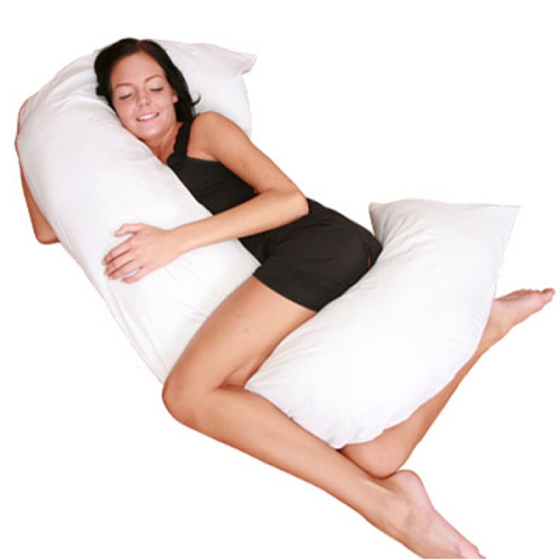 Deluxe Comfort C Shaped Full Body Pillow Total Body