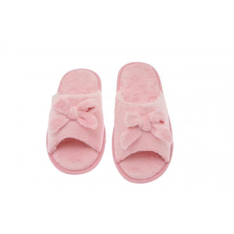Womens Memory Foam House Slippers Open Toe Coral Fleece
