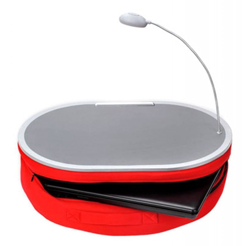 Lamp Desk With Lap Red