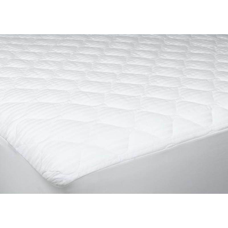 Deluxe 100 Cotton Damask Stripe Mattress Pad