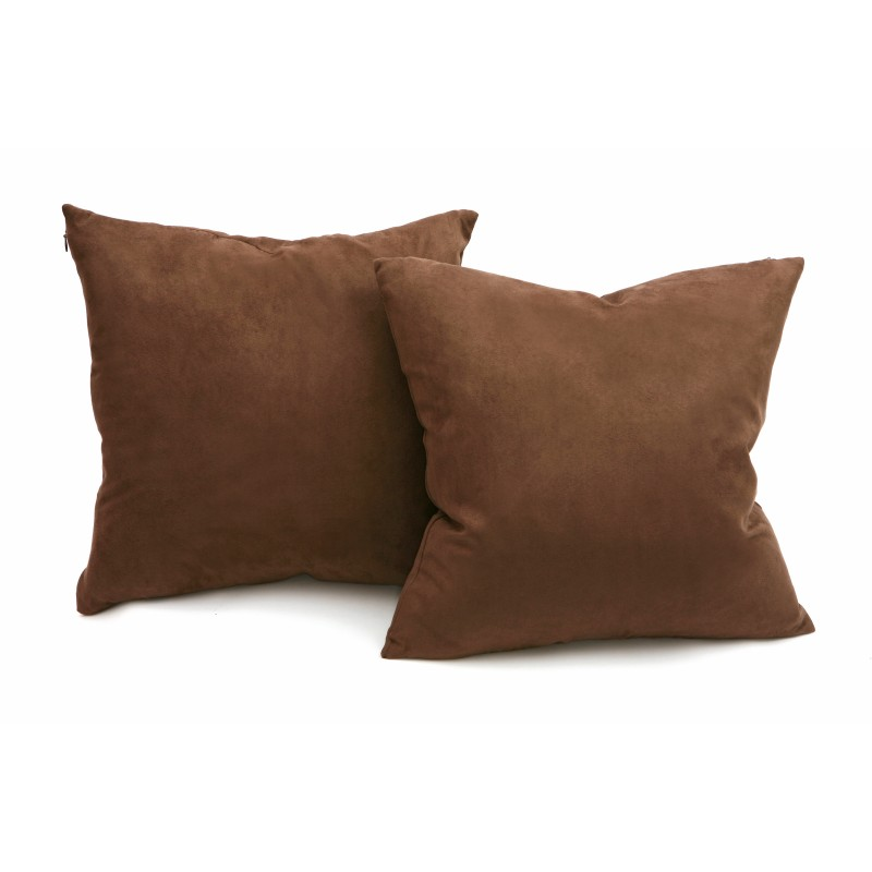 Throw Pillow Set For Couch : Chocolate Microsuede Couch Pillows / Sets of Two Throw Pillows, 18-Inch-by-18-Inch- Decorative ...