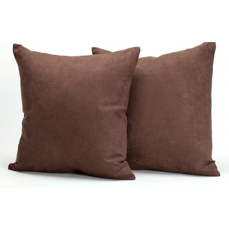 Chocolate Microsuede Couch Pillows Sets Of Two Throw