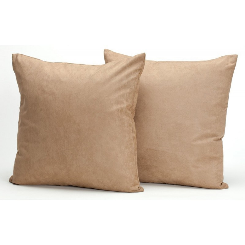 Microsuede Deco Pillow - 18x18 - Feather And Down Filled Pillows - Pack of 2