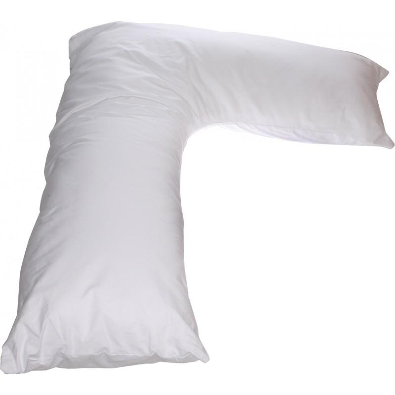 L Side Sleeper Pillow White Long L Body Pillows For