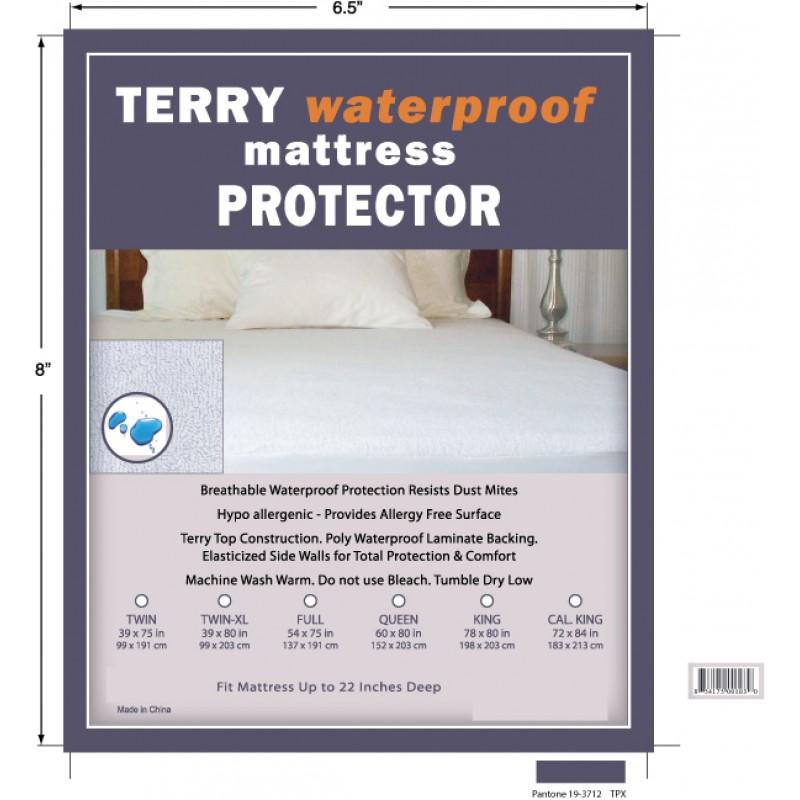 Deluxe Comfort Waterproof Mattress Protector King Terry