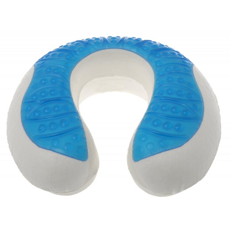 Deluxe Comfort Cool Gel Memory Foam UFO Travel Pillow Cooling Gel