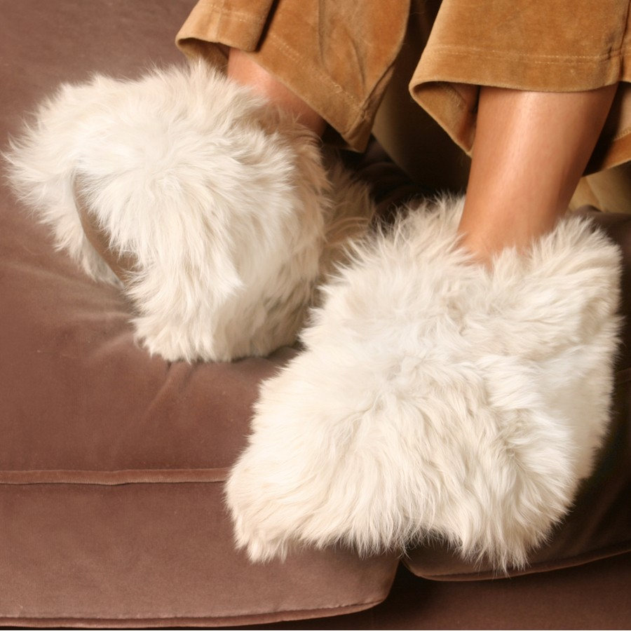 Luxurious Alpaca Fur Slippers - The most luxury fur slippers