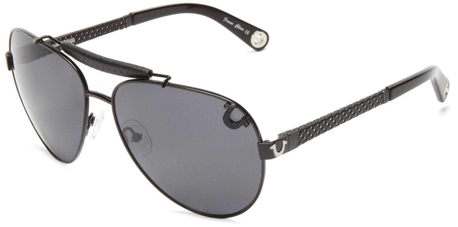 True Religion Brody Aviator Sunglasses
