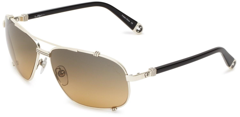 True Religion Harley Aviator Sunglasses Black & Antique Silver