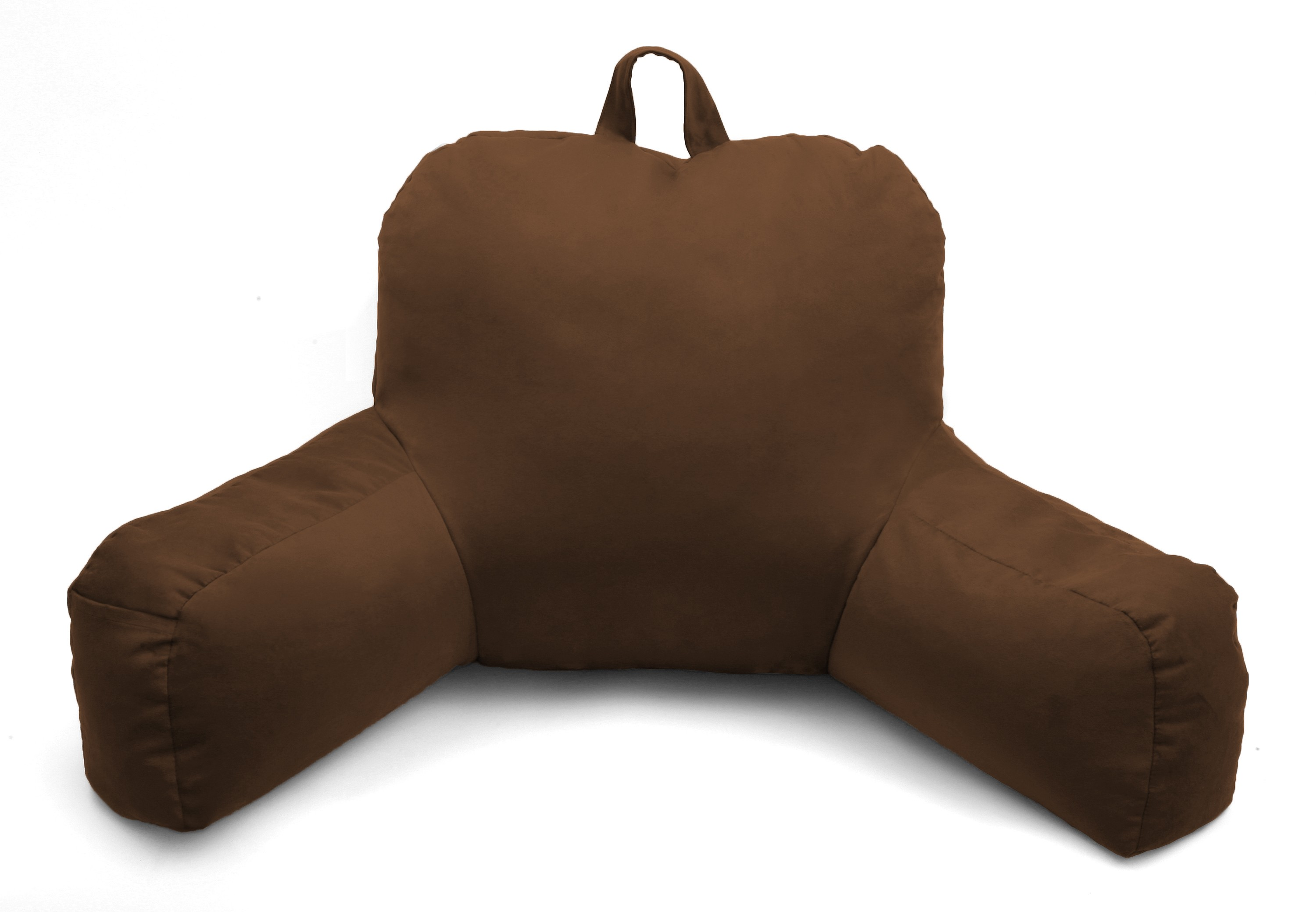 Terrific Deluxe Comfort Microsuede Porter Bedrest Lounge Pillow Airy Soft Microbeads Perfect For Bed And Dorm Rooms Wear Resistant Soft Microsuede Bed Andrewgaddart Wooden Chair Designs For Living Room Andrewgaddartcom
