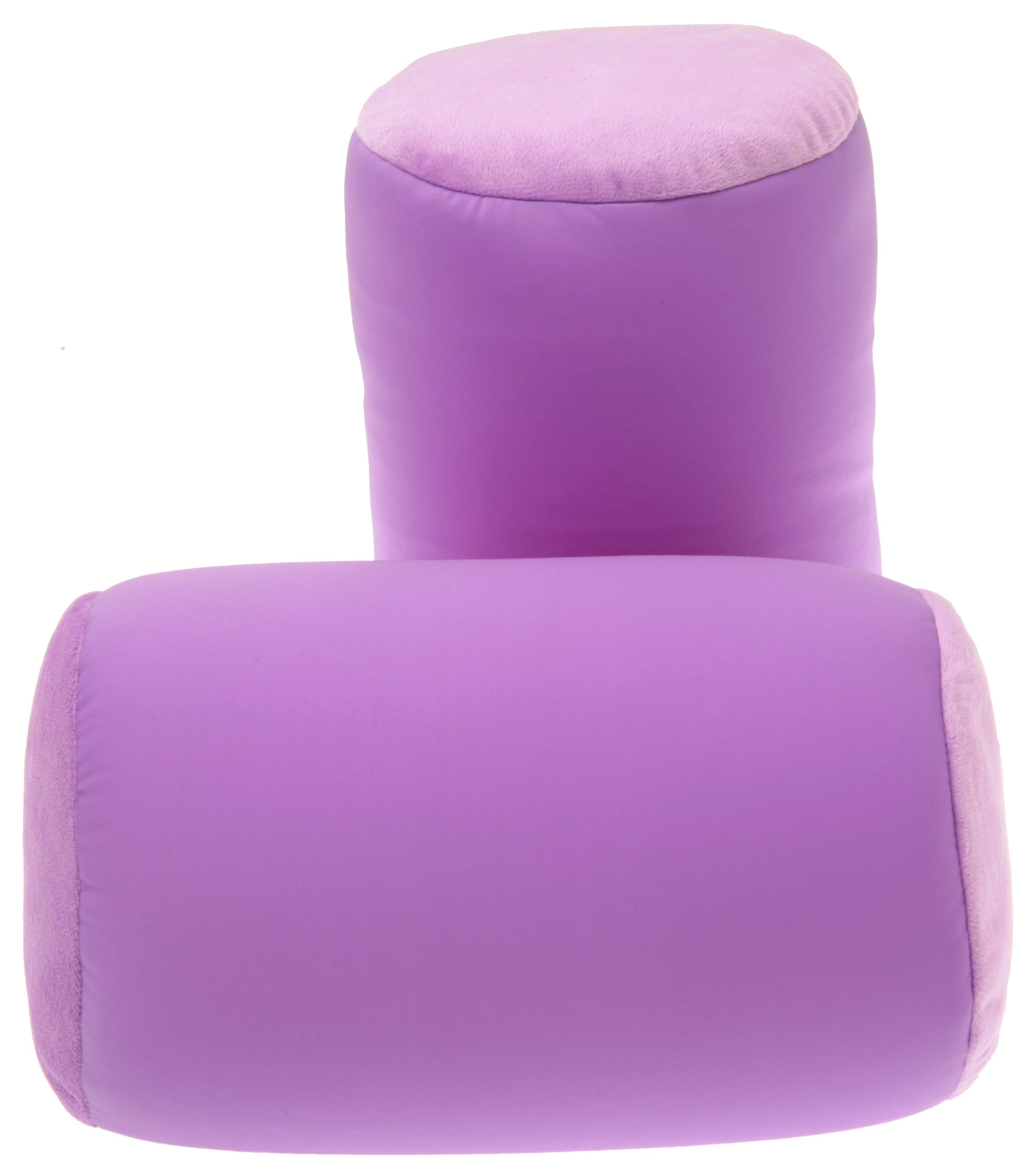 Best Neck Roll Bolster Pillows Purple Deluxe Comfort Microbead Pillow