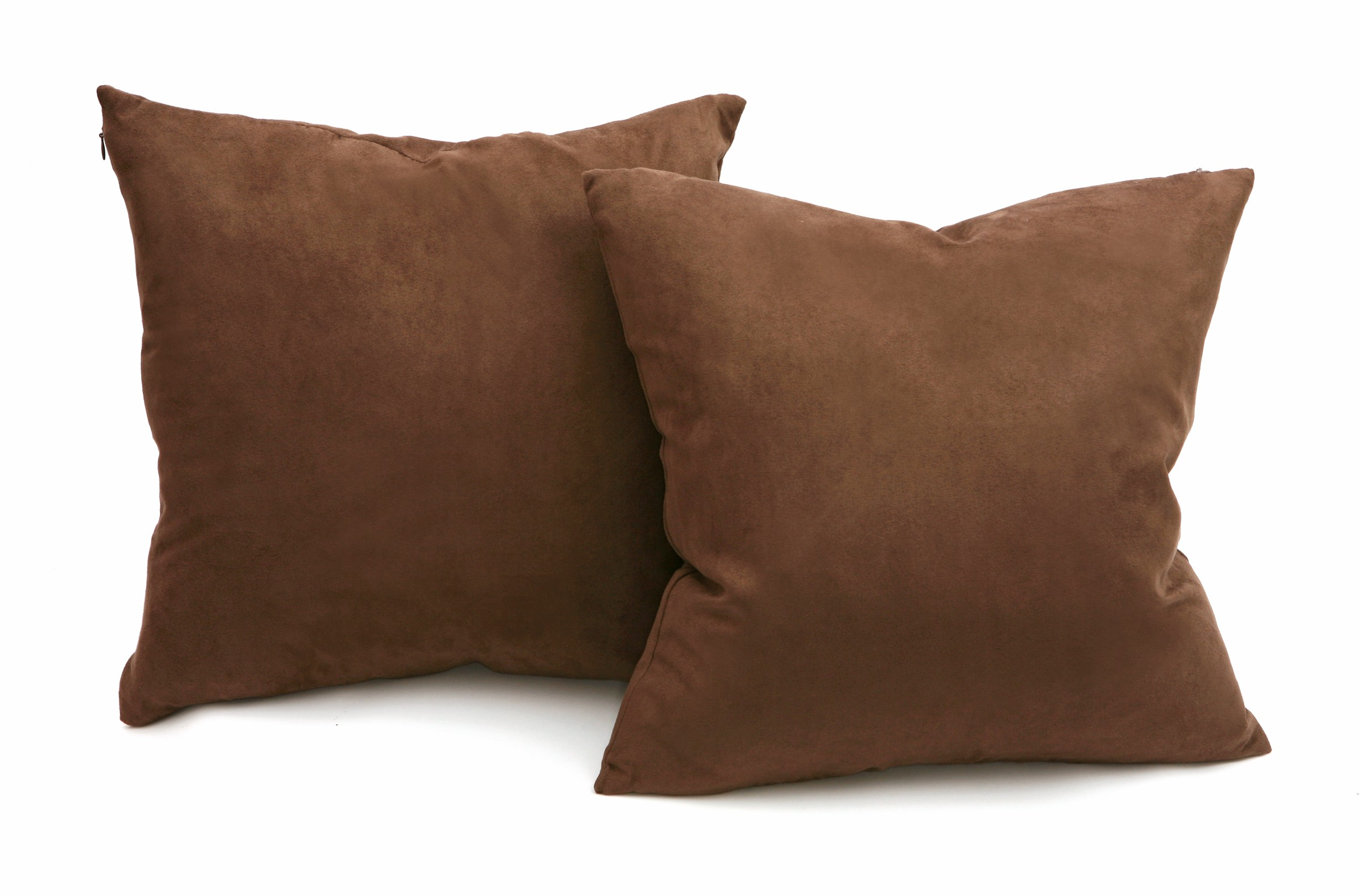 Down Throw Pillows For Couch : Chocolate Microsuede Couch Pillows / Sets of Two Throw Pillows, 18-Inch-by-18-Inch- Decorative ...