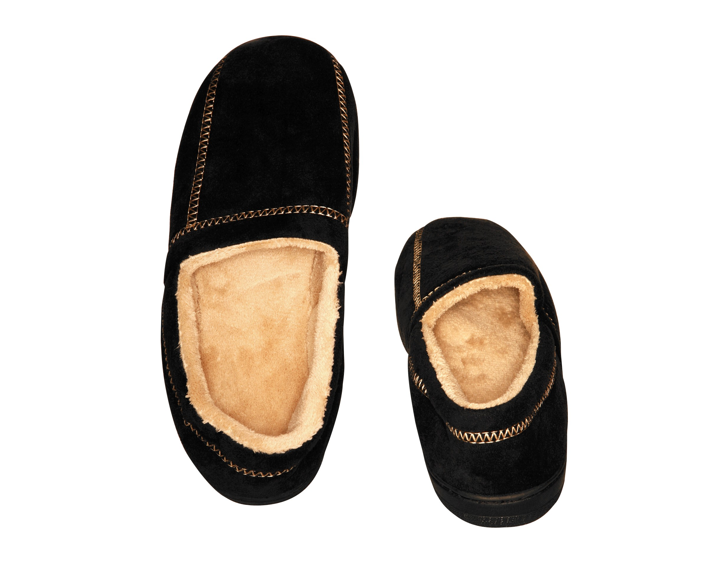 c37126a094705 Deluxe Comfort Modern Moccasin Memory Foam Mens Slipper, Size 13-14 -  Stylish Microsuede - Long Lasting Memory Foam - Warm Fleece Lining - Mens  Slippers, ...