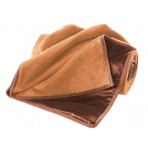 Love Blanket - Spice up Love Life with Tangerine Shag/Brown Satin