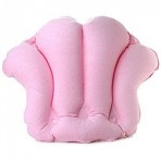 Terry Bath Pillow - Inflatable bath pillow with suction cups