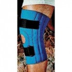 "Sportaid 12 1/2"" Neoprene Open Patella Knee Sleeve with Stays Extra Large"