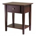Winsome Wood 94922 Shaker Nightstand, Antique Walnut