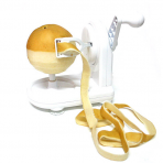 Perfect Peel Apple Peeler  - Easy Clean Removable Comercial Blade And Flexable Spring Loaded Peeling Arm - Struggle Free Continuous Motion Turn Handle - Secures To Countertop With Non-Slip - , White