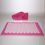 Deluxe Comfort Acupuncture Mat with Carrying Bag - Natural Endorphin Energy Booster - Holistic Therapy - Great Stress Reliever - Mat, Pink