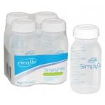 Bottles Milk Storage Pack/4 for Comfort Select Breast Pump
