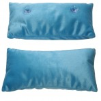 Deluxe Comfort Microbead Spa Pillow, Oversized - Hot Tub Head And Neck Rest Pillow - Melt Away Stress - Secured By Non-Slip Suction Cups - Bath Pillow, Caribbean Blue