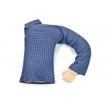 Boyfriend Pillow  - Cute And Fun Husband, Companion Or Cuddle Buddy - Body Pillow With Benifits - Unique Gag Gift Idea - Body Pillow, Plaid Checkered Blue and White Shirt
