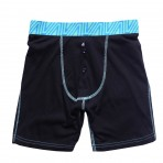 Black/Tiffany Fitted Boxers