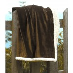 Country Lambswool Throw - 60x70 - Chocolate