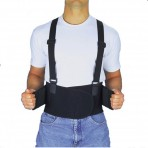 Back Brace - Industrial Back Support With Shoulder Straps - Large