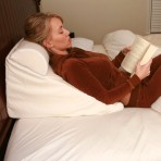 Bed Wedge Pillow Set / Reading Pillow System - Wedge for bed Memory Foam Support