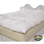 Feather Bed Cover With Zip Closure - Twin