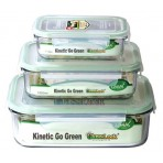 3 Pc Set - Rectangular Glass Food Storage Containers