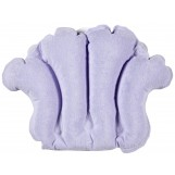 Deluxe Comfort Terry Bath Pillow - Spa Quality Terry Cloth - Easily Inflatable With Secure Suctioncups - Hot Tub And Jacuzzi Safe - Bath Pillow, Purple