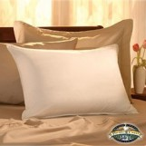Deluxe Comfort  Extra Comfortable Down Pillow with Zipper Cover - 100% Egyptian Cotton Thread - Removable Cover - Luxury - Bed Pillow