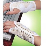 Canvas Cock Up Splint Right Hand, Pull & Lace-up Closure, Large
